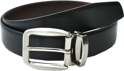 BROUNPLUS Boys, Men Evening, Formal, Party Black Artificial Leather Reversible Belt