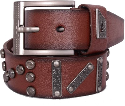 AZ Men Brown Genuine Leather Belt