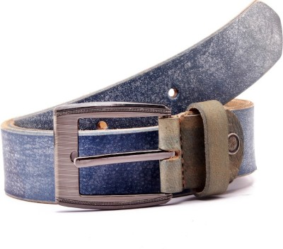 Junckers Men, Boys, Girls Formal, Casual, Party, Evening Blue Genuine Leather Belt