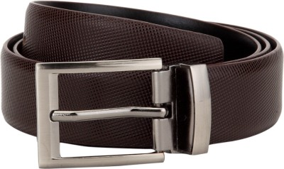Zeus Men Formal Black Genuine Leather Reversible Belt