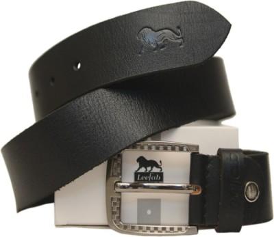 Leefab Men Formal Black Genuine Leather Belt
