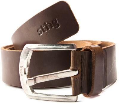 Sting Men Casual Brown Genuine Leather Belt