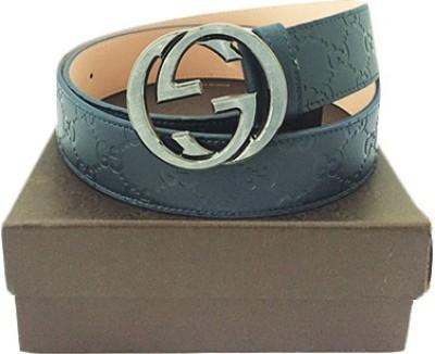 Zaira diamond Men Blue Genuine Leather Belt