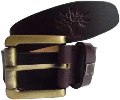 sankalp Men Formal Maroon Genuine Leather Belt