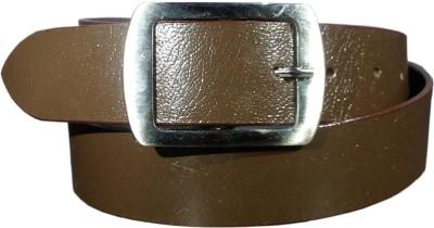 Giffi Men Casual Brown Genuine Leather Belt