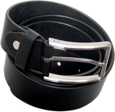 Lee Italian Men Formal Black Genuine Leather Belt