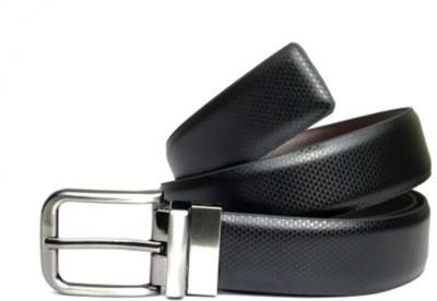 Fashion Craft Men, Boys Formal Black Genuine Leather Belt