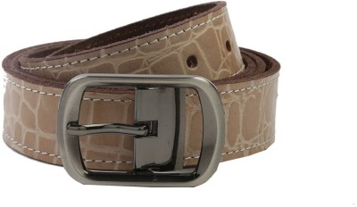 Nypc Men Casual Brown Genuine Leather Belt