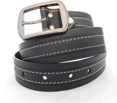FINCH FEATHER Men, Boys Party, Casual, Formal Black Genuine Leather Belt