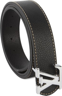 Lotus Designer Men Casual Black Texas Leatherite Belt