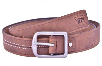 Bonafide Leathers Men Tan Genuine Leather Belt