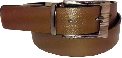 Sanshul Men Formal Brown Genuine Leather Reversible Belt