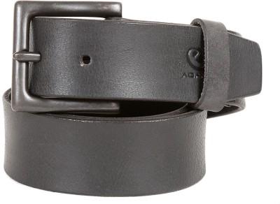 e-Adams Men Casual Black Genuine Leather Belt