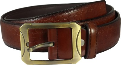 Ammvi Creations Men Casual Brown Artificial Leather Belt
