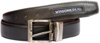Winsome Deal Men Formal, Casual Black Artificial Leather Belt