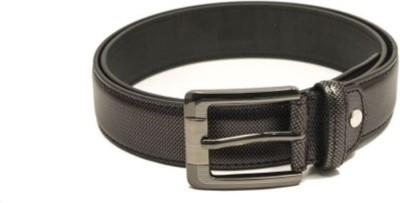 Fashion Craft Men, Boys Casual Black Genuine Leather Belt