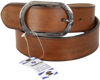 San Vertino Men Casual Brown Genuine Leather Belt