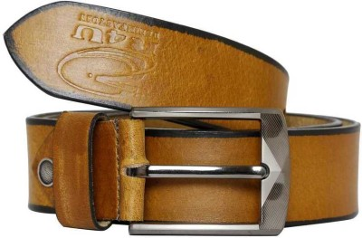 R4U Denim Factory Men Formal Tan Genuine Leather Belt