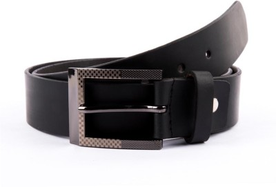 BROUNPLUS Boys, Men Formal Black Genuine Leather Belt