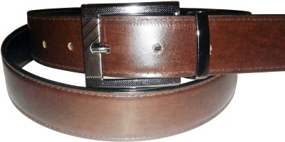 Sanshul Men Formal Black, Brown Genuine Leather Reversible Belt