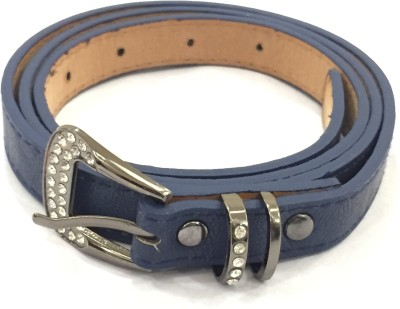 Sir Michele Women Casual Blue Artificial Leather Belt