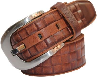 Haywire Men Casual Brown Genuine Leather Belt