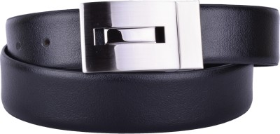 CALLESTO Men Formal Black Genuine Leather Reversible Belt