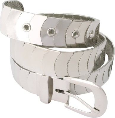 Super Drool Girls, Women Party Silver Artificial Leather Belt