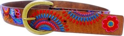 LaPalma Girls Casual Tan Genuine Leather Belt