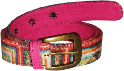 JAJV Women Casual Pink Canvas Belt