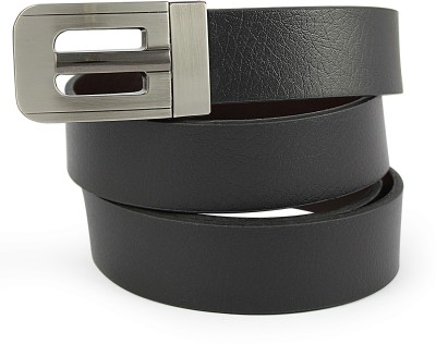 Snowfinch Men Formal Black Genuine Leather Reversible Belt