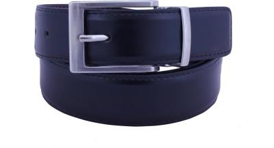 Osaiz Men, Boys Formal, Evening, Party Black Genuine Leather, Metal Belt