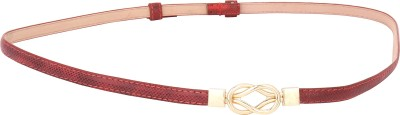 Naitik Products Women Casual Maroon, Gold Genuine Leather Belt