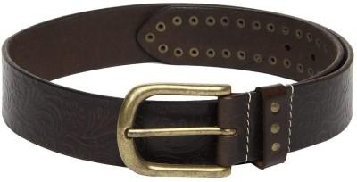 Fume Men Casual Brown Genuine Leather Belt