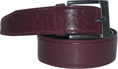 Aleron Men Casual Maroon Artificial Leather Belt