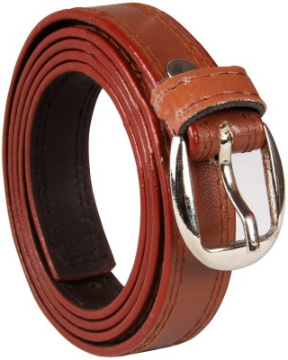 Harp Boys, Men, Girls, Women Casual, Party, Formal, Evening Brown Artificial Leather Belt