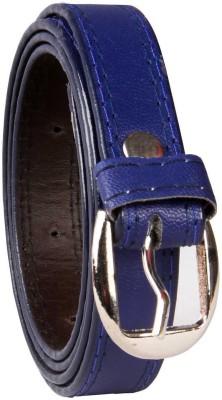 viaharp Women, Girls, Men, Boys Casual, Party, Formal, Evening Blue Artificial Leather Belt
