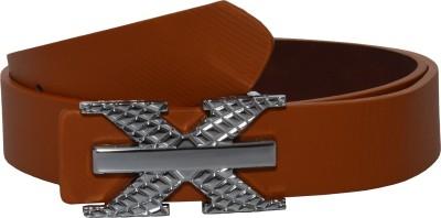 Gen Men Casual Brown Genuine Leather Belt