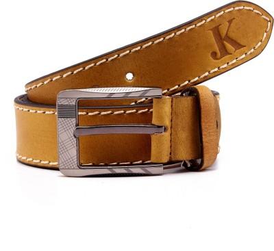 Junckers Men, Boys, Girls Casual, Party, Evening Khaki Genuine Leather Belt