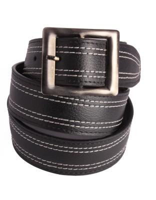 Aleron Men Black Genuine Leather Belt