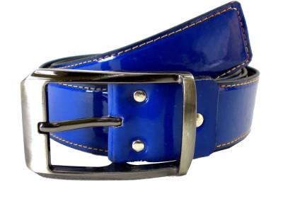 Opaque Men Formal Blue Artificial Leather Belt