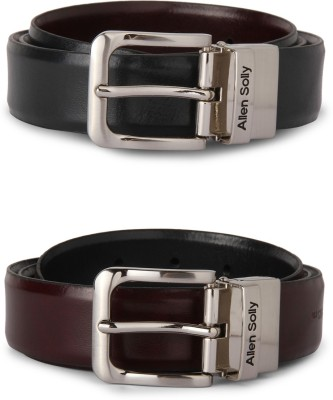 Allen Solly Men Black Genuine Leather Belt