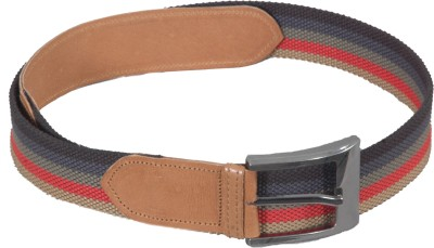 Frow Boys Multicolor Canvas, Genuine Leather Belt