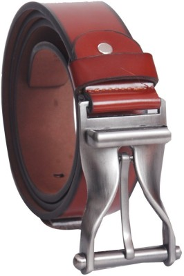 Oril Men Casual Maroon Artificial Leather Belt