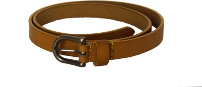 Vickiana Quest Girls, Women Formal, Casual Yellow Genuine Leather Belt