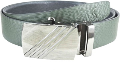 Sizzlers Men Green Genuine Leather Belt