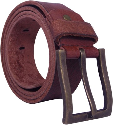 Ekora Men Casual, Formal Tan Genuine Leather Belt