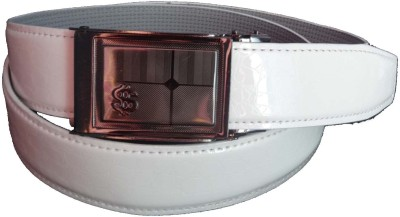 FRONEX INDIA Boys, Men Casual, Party, Formal White Genuine Leather Belt