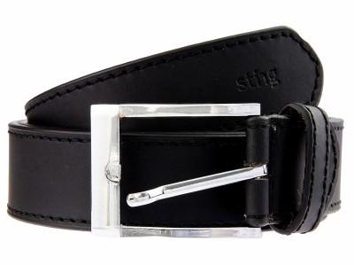 Sting Men Casual Black Genuine Leather Belt