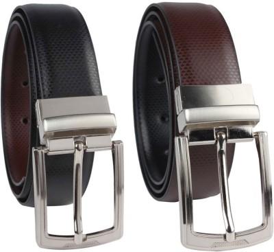 Ocean Enterprises Men Party, Casual, Formal Black Genuine Leather Reversible Belt
